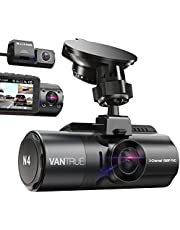 [2020 Version] Vantrue N4 TripleDash Cam, 3 Channel 1440P Front & 1080P Inside & 1080P Rear Car Dash Camera2.45 Inch IPS LCD Super Capacitor Infrared Night Vision Dashcams with 24 Hours Parking Mode, Motion Detection, Support 256GB Max
