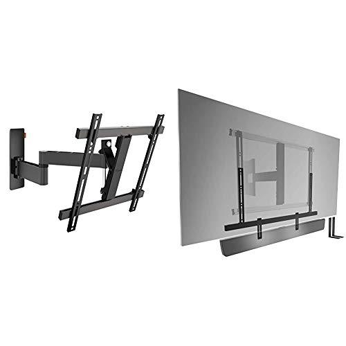 Vogel'S Wall 3245 - TV Wandhalterung für 32-55 Zoll Fernseher, Wandhalter, Schwenkbar & Neigbar bis 180°, Fernsehhalterung für die Wand & Sound 3550 Soundbar Halterung Universell