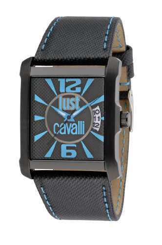 Just Cavalli R7251119001 - Reloj analógico de Cuarzo para Hombre con Correa de Piel, Color Negro