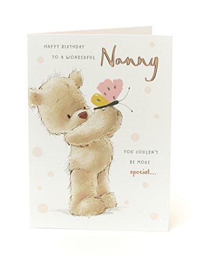 Cute Teddy Bear Nanny Geburtstagskarte–Special Nanny