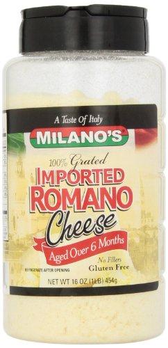 Milano#039s 100% Imported Romano Cheese Jar16 Ounce