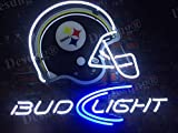 Desung Brand New 17'x13' Pittsburgh Sports Team Steeler Bud-Light Helmet Neon Sign (Various sizes) Beer Bar Pub Man Cave Business Glass Neon Lamp Light DB112