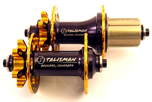 Talisman DC4 Dual-Ano 6-Pawl Disc MTB Hub Set 428g QR Shimano or SRAM (Gold/Black, Shimano...
