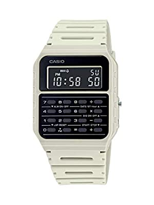 Casio Data Bank Quartz Watch with Resin Strap, Beige, 24.1 (Model: CA-53WF-8BCF) from CASIO