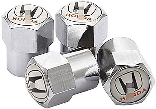 4 Piezas Tapas de Válvula de Neumáticos de Coche para Jazz City Civic Inspire Accord HRV CRV Odyssey Jade, Anti Polvo Resistente Agua Tapas para Válvulas Decoración Accesorio