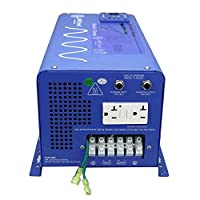 AIMS PICOGLF20W12V120VR 2000 Watt and 6000 Watt Surge 12 VDC Input to 120 VAC Output Pure Sine Inverter Charger Backup Power