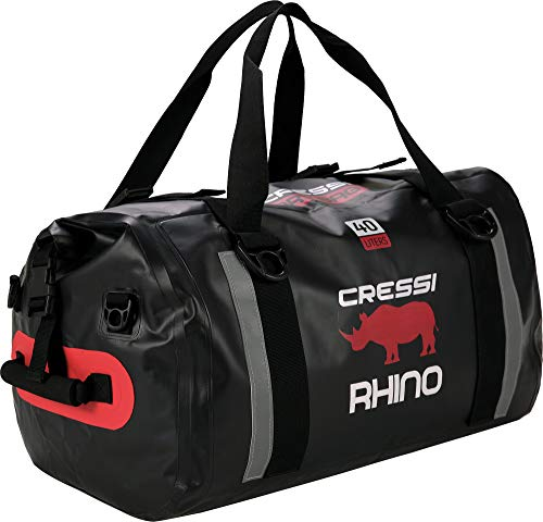 Cressi Rhino Dry Bag Bolsa Deportiva Impermeable, Unisex-Adult, Negro, 40 L