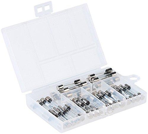 AGT Sortimentsbox: Sortimentskasten Glassicherungen 6 x 30 mm, 5-30 A, 48-teilig (Sortiment Kleinteilebox)