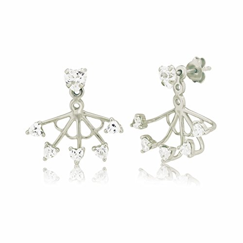 Ingenious Jewellery Donna 925 argento Rotonda trasparente FINEEARRING, argento, colore: argento, cod. EB4048/SIL