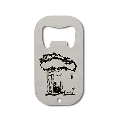 Nuclear fallout surrealistic bomb art Abrebotellas de acero inoxidable