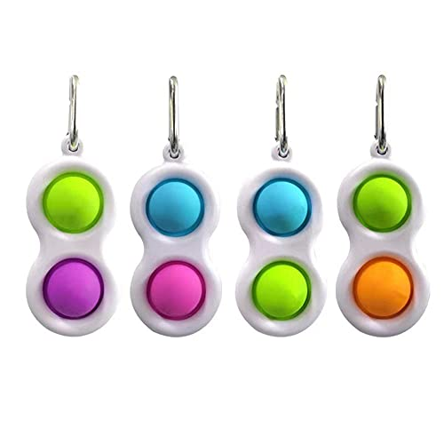 Push Pop Bubble Sensory Fidget Toy, Baby Sensory Toys for Children and Adults, Stress Relief Mini Keychain, Pendant Toys with Reduce Anxiety and Stress