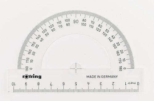 Rotring Centro transportador semicircular de 10 cm