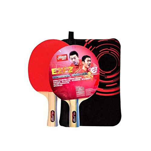 Affordable HUIJUNWENTI Table Tennis Racket, Table Tennis Racket Set, Double-Sided Anti-Stick Pen-Hol...