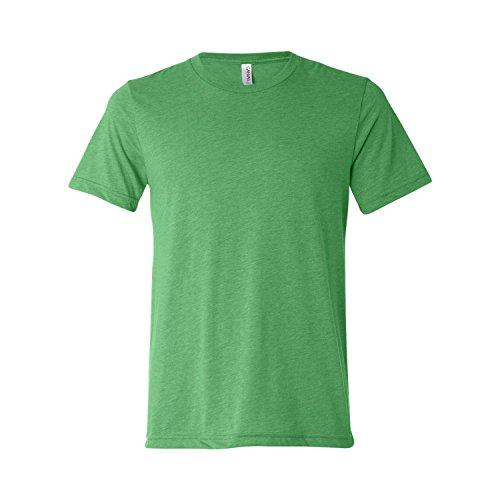 Canvas Men's Bella Tri Blend Tee, Style# 3413, XL, Green Triblend