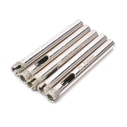 Brocas de diamante de 6 mm, sierras perforadoras de cristal, 5 piezas...