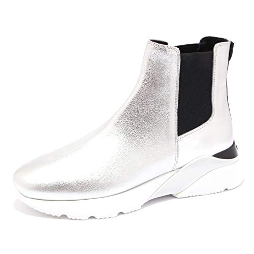 Hogan 7094K Sneaker Donna Silver Active ONE H385 Boot Shoe Woman [37]