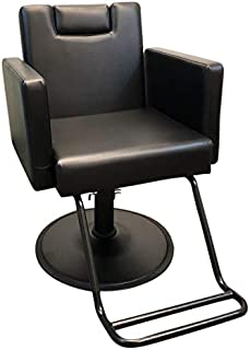 DevLon NorthWest Black Reclining Salon Chair Hydraulic Barber Chair Styling Salon Work Station Shampoo (Barber Chair)