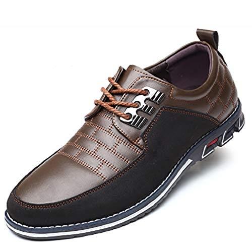 Harvards - Hybrid-Leder-Schuhe Herrenschuhe (38,Brown)
