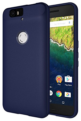 Nexus 6P Case, Diztronic Full Matte Slim-Fit Flexible TPU Case for Huawei Nexus 6P (2015) - Dark Navy Blue - (N6P-FM-Blue)