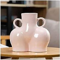 花瓶クリエイティブセラミックシミュレーションボディアートドライフラワー植物配置花瓶装飾ホーム装飾装飾品ホーム装飾花瓶(カラー:i) (Color : H)