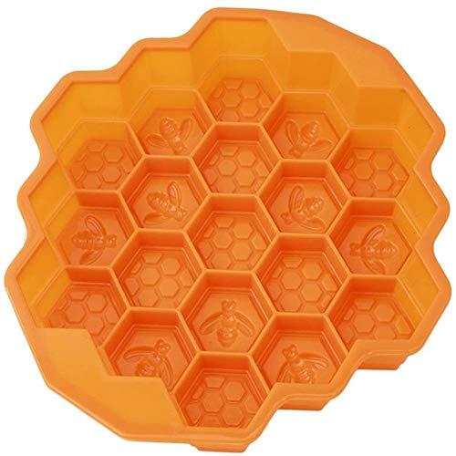buyaoku Hengsong Chocolate Mould Honeycomb DIY Silicone Frozen Candy Cake Mould (Orange)