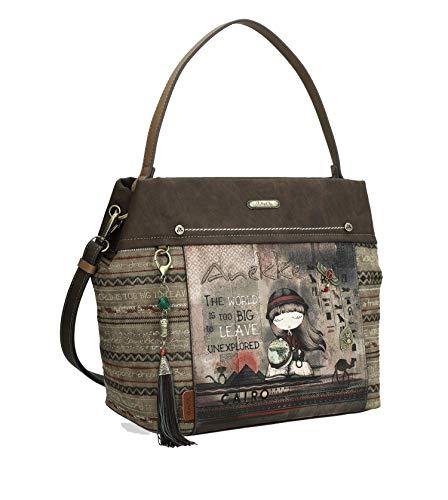 Anekke | Bonito bolso de hombro en tonos tierra | Accesorios y Complementos para Mujer
