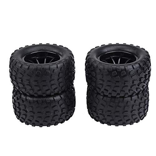 Voluxe Neumáticos del Coche de RC, artesanía Exquisita del Funcionamiento Estable del neumático de RC para el hogar(Black 10-Hole Outline)