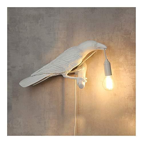 Bedroom living room lamp Bird Lamp LED Table Lamps Designer Home Decor Bird Desk Lamp Animal Ornaments Nightstand For Bedroom Living Room (Lampshade Color : White left)