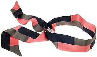 L. Erickson USA Color Block Elastic Loop Headband - Navy/Charcoal/Fandango