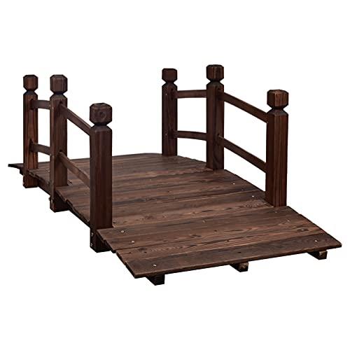 MAXXPRIME 5 ft Wooden Garden Bridge