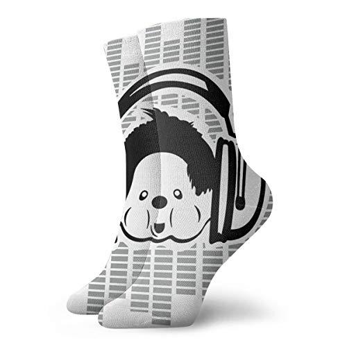 Monchichi Sportsocken mit elektronischer Musik, niedlich, zum Wandern, Wandern, Outdoor-Freizeit, Wicking Cushion Crew Socken für alle Jahreszeiten