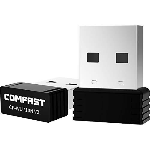 WiFi Dongle,Wireless Mini USB WiFi Adapter 802.11N 150Mbps USB2.0 Receiver Dongle MT7601 Network Card for Desktop Laptop Windows MAC