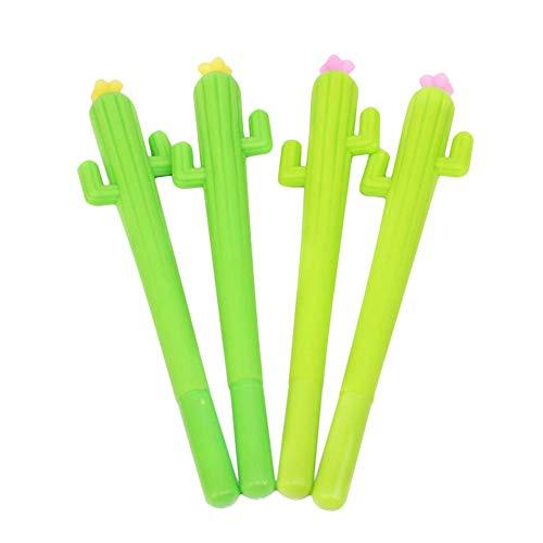 Cosanter 4 x Kawaii Kaktus Gelschreiber Kleine Stifte Geschenk Kugelschreiber Lustig Kreativer Bürobedarf Schulbedarf Schreibwaren