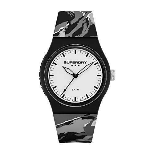 Superdry Damen Analog Quarz Uhr mit Silicone Armband SYL270EW