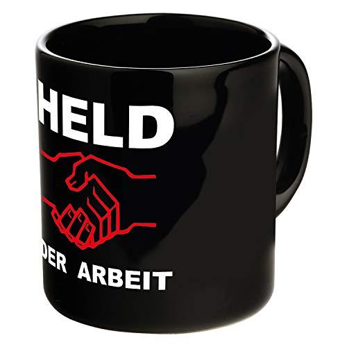 Ostprodukte-Versand.de Tasse Held der Arbeit schwarz - DDR Traditionsprodukte - DDR Geschenk