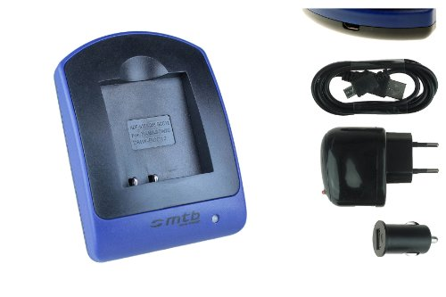 Cargador (USB/Coche/Corriente) S005 para Panasonic Lumix DMC-FS, FX, LX Serie/Leica D-Lux/Finepix/Ricoh. Ver Lista