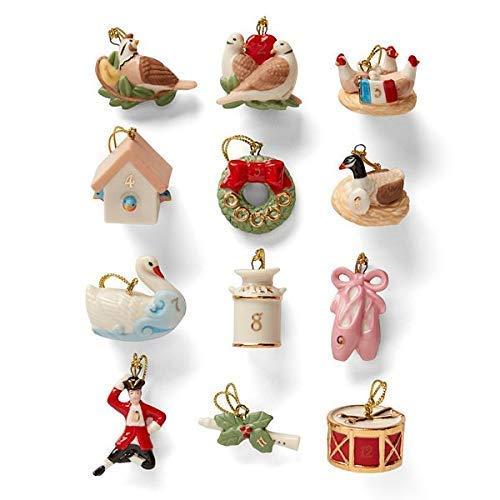 Lenox 878893 Twelve Days of Christmas 12-Piece Ornament Set
