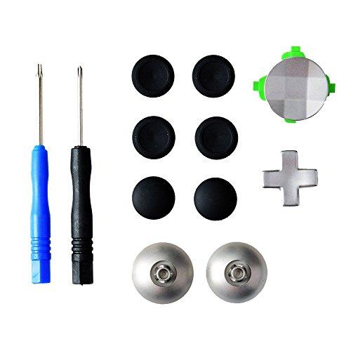 Gam3Gear 11 en 1 Reemplazo analógico de aleación de metal Thumbstick D-Pad...