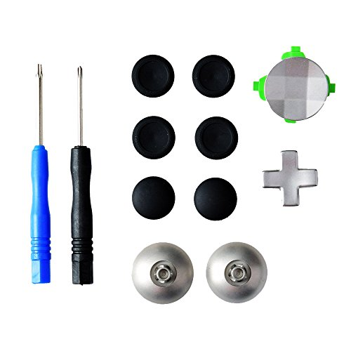 Gam3Gear 11 in 1 Metall-Legierung Analog Thumbstick D-Pad Directional-Tasten Button Set für XBOX One Elite-Controller mit Werkzeuge