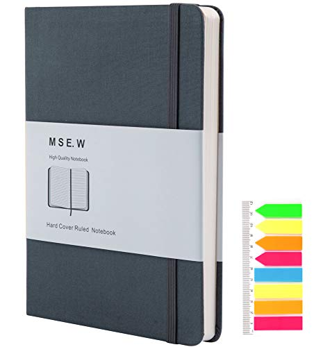 """Journal for Men, Notebooks for Work,Mens Journal for writing, Lined Journal Notebooks for Note Taking, A5 Hardcover Travelers Notebook,Daily Diary, 5.7"""" x 8"""",200 Pages Thick Paper(Grey)"""