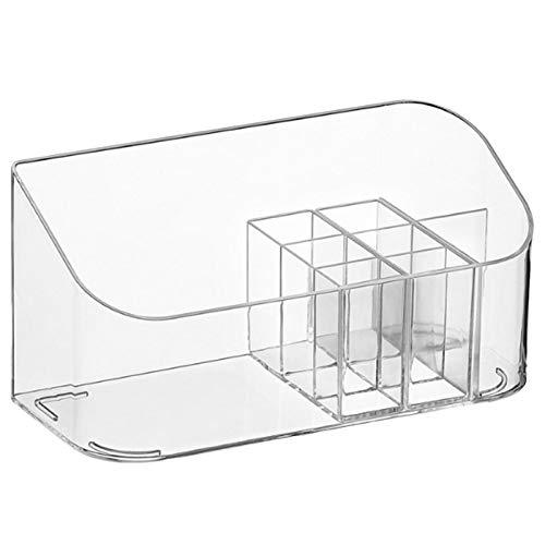 wangstar Organizador De Maquillaje Caja Transparente Compartimentos - Ideal para Guardar Maquillaje, Cosméticos Y Productos De Belleza – Plástico Transparente