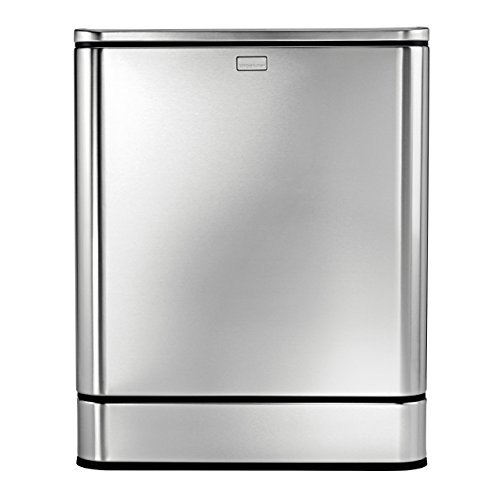 simplehuman Rectangular Sensor Can, Touch-free Automatic Trash Can, Stainless Steel, 40 L / 10.5 Gal (Discontinued)