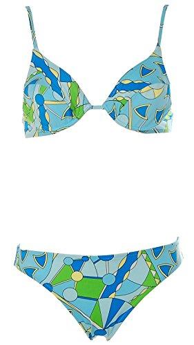APART Fashion Apart Damen Bügel Bikini Alloverprint Beachwear Blau 34