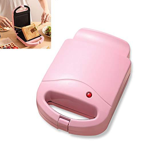GPFDM Die Mini Sandwich Maker Maschine Für Einzelne Waffeln, Paninis, Hash Browns Und Andere Unterwegs Frühstück, Mittagessen Oder Snacks - Pink