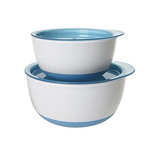オクソー OXO Tot ボウルセット アクア フタ付き ベビー食器 離乳食 すくいやすい 深皿 保存容器 FDOX6103800