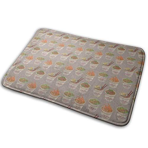 AOOEDM Egg Cup Noodle Ramen Memory Foam Bath Mat Non Slip Ultra Absorbent Bathroom Rug Carpet, 15.7' X 23.5'