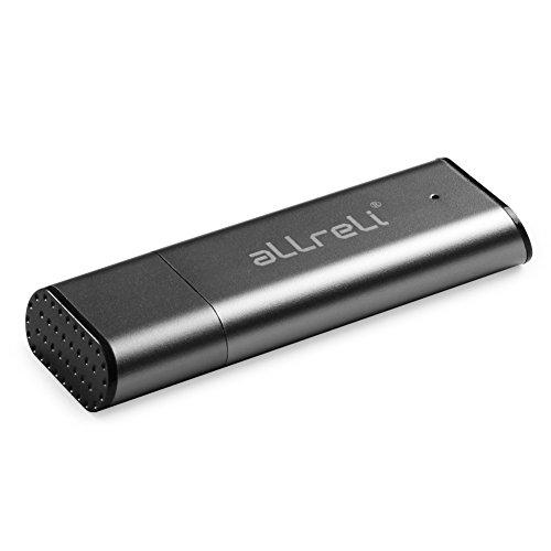 aLLreli [Upgraded Version] CP00341 8GB USB Digital Audio Voice Recorder for Mac & PC [Grey]