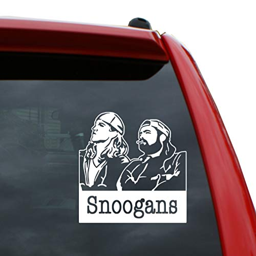 Black Heart Decals & More Jay and Silent Bob/Snoogans Vinyl Decal Sticker | Color: White | 5' Tall