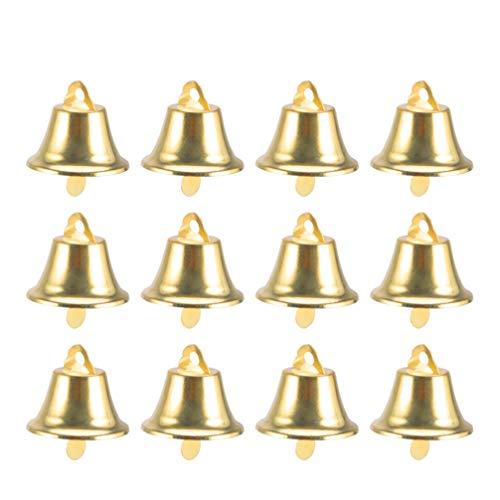 STOBOK Mini Campanas Doradas campanillas Adornos para árboles de Navidad,120 Piezas