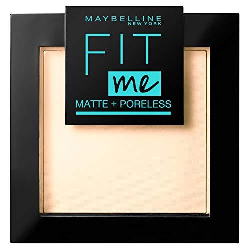 Maybelline New York Puder, Mattierend, porenverfeinernd und langanhaltend, Fit Me! Matte + Poreless, Nr. 105 Natural